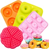 Silicone Donut Baking Pan,SPLAKS 4pcs Non-Stick Silicone BPA Free Molds Food-Safe Silicone Baking Tray Maker Pan Heat Resista
