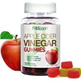 "Fit & Lean Apple Cider Vinegar Gummies, Apple Cider Vinegar, With""The Mother"", Detox and Weight Loss, Ginger Root, 60 Count"