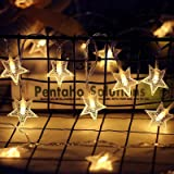 Twinkle Star 40 LED 14 FT Star String Lights Battery Operated, Fairy String Light for Home, Party, Christmas, Wedding, Garden