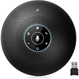 eMeet M2 Maxスピーカーフォン マイクスピーカー USB/Bluetooth/Dongle対応 在宅勤務用 最大15人まで対応 360˚全方向集音 エコー・ノイズのキャンセリング 高音質 LED指示 音声自動追尾 オンライン会議 テレワーク