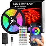 4.8M LED Strip Lights for Bedroom, Music Sync Bluetooth LED Lights Strip Kits(SAA Certified Power Supply)