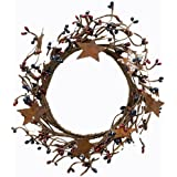 "CWI Gifts 4-8"" Country Mix Pip Ring with Rusty Stars"