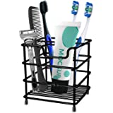 HYRIXDIRECT Toothbrush Holder Stainless Steel Rustproof Bathroom Electric Toothbrush Holder Toothpaste Storage Organizer Stan