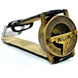 ソリッドスタイル マリン真鍮 日時計コンパス リストウォッチタイプ ワーキングコンパス ギフト