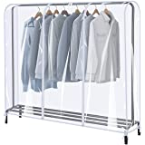 ZZone Garment Rack Cover,Transparent PEVA Clothing Rack Cover, Clear Clothes dustproof Waterproof Cover, High Quality PEVA, C