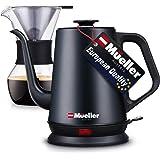 Mueller Electric Gooseneck Kettle, Pour Over Coffee Kettle & Tea Kettle, Variable Temperature Control, Matte Black