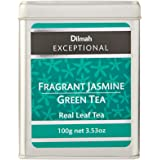 Dilmah Exceptional Fragrant Jasmine Green Tea Loose Leaf Caddy, 100 Grams