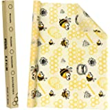 """Beeswax Food Wrap, Reusable Beeswax Wraps Roll 1 Metre (13""""×39"""") Organic Food Storage Nature Beeswax Wrap for Sandwich,Bread,"""
