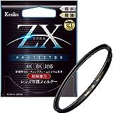 Kenko レンズフィルター ZX プロテクター 58mm レンズ保護用 撥水・撥油コーティング フローティングフレームシステム 日本製 258323