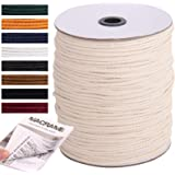NOANTA Macrame Cord 3mm x 328Yards, 100% Natural Cotton Macrame Rope Cotton Cord, Perfect Macrame Supplies for Wall Hanging,