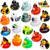 JOYIN 18 pcs Halloween Novelty Rubber Duckies, Halloween Classic Featured Duckies Great for Halloween Party Favors, Baby Bath