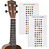 Tiger Ukulele Note Sticker - Colour Coded Fretboard Stickers - 2 Pack