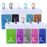 "[4 Pack] Cooling Towel (40""x12""), Ice Towel, Soft Breathable Chilly Towel, Microfiber Towel for Yoga, Sport, Running, Gym, Wo"