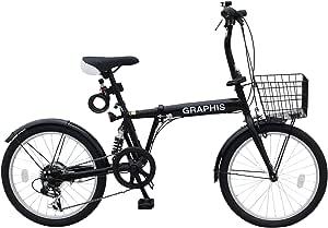 GRAPHIS(グラフィス) 折りたたみ自転車20インチ 6段変速 GR-777