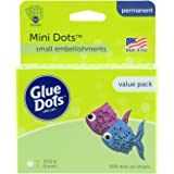 Glue Dots Removable Sheets Value Pack, Plastic, Clear, 3/16 Inch