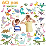 VCOSTORE Temporary Dinosaur Tattoos for Kids, 10 Sheets 105 Assorted Dinosaur Pattern Tattoos - Party Favor / Fun Gifts / The