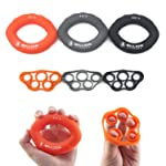 5BILLION Hand Strength Grip & Finger Stretcher - Strength Trainer for Golf Grip, Guitar Finger, Forearm Exercise, Cycling...