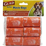 Glad for Pets Extra Large Tropical Breeze Scented Dog Waste Bags Refills | Poop Bags For Dogs, 90 Count (FF8649)