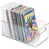 "mDesign Home Storage Organizer Bin Magazines, Comic Books - 8"" x 6"" x 14.5"", Clear"
