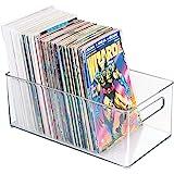 "mDesign Home Storage Organizer Bin Magazines, Comic Books - 8"" x 6"" x 14.5"", Clear"
