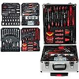 Ausbuy 899pcs-ToolBox House Repair Tool Set, General Portable Trolley Case DIY Hand Tool Mechanical Tool Box