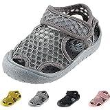 [QH HOSI] ベビーサンダル キッズ 滑り止め 柔らかい 通気性 子供靴 サンダル つま先保護 水陸両用 スポーツ…