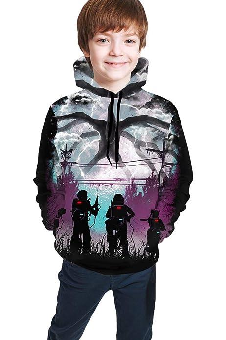 C-Emily Childrens 3D Printed Preston Fire Nation Playz Gamer Flame Pullover Hoodie Sweatshirt for Boys//Girls//Teen//Kids M 10-12