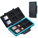 36 Slots Memory Card Storage Water-Resistant Anti-Shock Memory Card Case for 24 MicroSD MSD TF Cards and 12 NS Card Nintendo