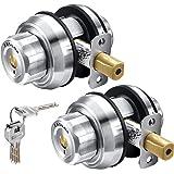 Keyless Deadbolt Lock, Twist to Lock Keyed Alike Casting Stainless Steel Combo Lock Front Door Lock, Single Cylinder Deadbolt