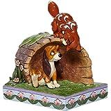 "Jim Shore Disney Traditions 6008077 Fox and Hound On Log Figurine 5.75"" H"