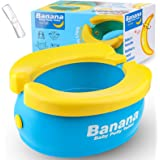 Travel Potty, Tinabless Portable Folding Reusable Banana Travel Toilet Potty Training Seat for Toddlers with 20 Potty Liners