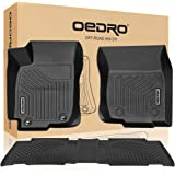 oEdRo Floor Mats for 2013-2018 Toyota RAV4, Unique Black TPE All-Weather Guard Includes 1st and 2nd Row: Front, Rear, Full Se