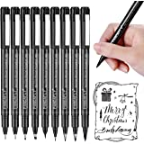 Hand Lettering Pens, 9 Size Black Calligraphy Pen Brush Markers Set for Beginners Writing, Bullet Journaling, Signature, Mult