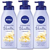 NIVEA Vanilla and Almond Oil Infused Body Lotion, 16.9 Fl. Oz (Pack of 3)