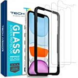 Tech Armor Ballistic Glass Screen Protector for Apple iPhone 11 / iPhone Xr - Case-Friendly Tempered Glass [3-Pack], Haptic T