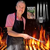 K LIVING Premium Barbecue Tool Sets | Long Handle | Stainless Steel | 1 Piece | TAKE Back Control of The Grill | Bonus Apron