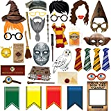 38pcs Magical Wizard Party Photo Booth Props,Wizard Castle Party Photo Booth Props, Magical Wizard School Party Favors Suppli