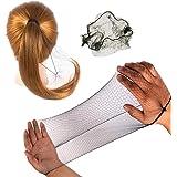 "50PCS Hair Nets Invisible Elastic Edge Mesh Bun Hair Nets for Ballet Dance 20"" Black"