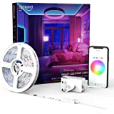 Smart LED Strip Lights,Gosund 5M(16.4Ft) 5050 RGB LED Colour Changing Lighting Strips Work with Alexa and Google Home, Sync t