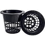2 inch Net Pots Cups Heavy Duty Round Wide Rim Design - Orchids Aquaponics Hydroponics Slotted Mesh (Cz Garden All Star - 50