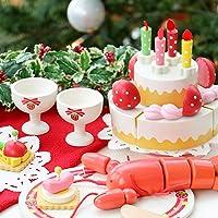 マザーガーデン Mother garden ネット店限定 〔木のおままごと プレミアムセット クリスマスディナーセット〕 木製 ままごとセット
