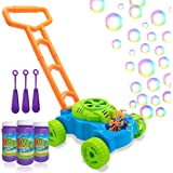 Lydaz Bubble Mower for Toddlers, Kids Bubble Blower Machine Lawn Games, Summer Outdoor Push Toys, Birthday Toy Gifts for Pres