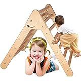 Pikler Triangle Climber, Larger Foldable Pikler Triangle Ladder, Climbing Triangle for Toddler, Wooden Climbing Triangle Ladd