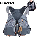 3 in 1 Mesh Fly Fishing Vest and Backpack Breathable Outdoor Fishing Safety Life Jacket Fisherman Utility Vest Swimming Saili