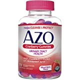 AZO Cranberry Urinary Tract Health Gummies Dietary Supplement | 2 Gummies = 1 Glass of Cranberry Juice | Helps Cleanse & Prot