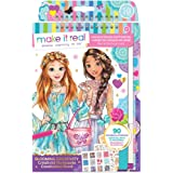 Make It Real - Fashion Design Sketchbook: Blooming Creativity. Inspirational Fashion Design Colouring Book for Girls. Include