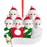 2020 Glitter Christmas Ornament DIY Christmas Tree Decoration Resin Personalized Family of 6 Christmas Hanging Xmas Santa Gif