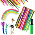 150PCS Latex Twisting Balloons, 260Q Assorted Color Magic Long Balloons with Pump for Animal Shape Party, Clowns, Wedding Dec