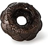Nordic Ware Autumn Wreath Bundt Pan, Bronze, 10 cups, Silver