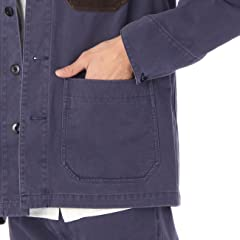 Chino Cloth Jacket F44-55900: Navy